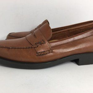 BASS WEEJUNS  Penny Leather Brown Loafers Size 7M